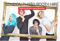 London photo booth hire, illuminated letters, digital graphity wall